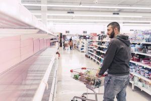 Supermarkets in countries such as Spain ,Italy, United States or Australia are running out of basic supplies on the shelves as toilet paper, food (Chicken , pasta, rice, sugar...) due to Coronavirus